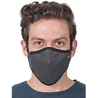 WILDCRAFT SUPERMASK W95 Plus Reusable Outdoor Respirator(LARGE) with Neckband (PACK OF 3, GRINDLE : GRY_DARK)