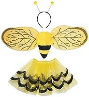 Simpaticissimo e coloratissimo travestimento per bambina da ape. Composto da tutu', ali e antenne. Sfiziosissimo per travestire la tua principessa. Il gonnellino con elastico in vita si adatta a bambini dai 3 ai 9/10 anni.