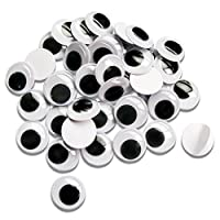 TOAOB 300pcs Wiggle Googly Eyes with Self-Adhesive 10mm for DIY Scrapbooking Crafts Toys Accessories