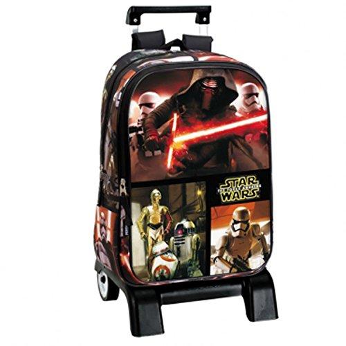 Star Wars Grand escolar ruedas 43 cm fuerza-Despertador