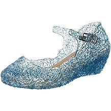Katara - Zapatos para disfraz de princesa color Azul, EU . 30 (tamaño del fabricante 32)