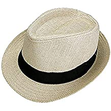 BoBoLily Sombrero De Paja para Hombre Unisex Sombrero De Verano para Mujer  Vacaciones En Especial Estilo e492d8e86c5