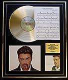 GEORGE MICHAEL/ CD GOLD DISC UND PHOTO UND SONG SHEET DISPLAY/LIMITIERTE AUFLAGE/COA/ALBUM LADIES & GENTLEMEN /SONG SHEET CARELESS WHISPER