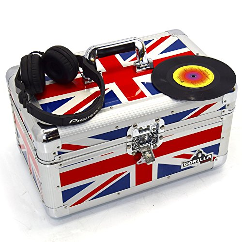 Single Union (Gorilla 17,8cm Singles Vinyl Record Tragetasche Aufbewahrungsbox Robust hält 200Stück Union Jack INC Lebenslange Garantie)