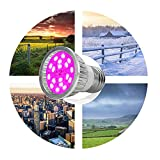 Grow Lamp TAOtTAO E27 E14 GU10 6W 18-LEDPlant wachsen Glühbirne Hydroponische Veg Blume Full Spectrum (A)
