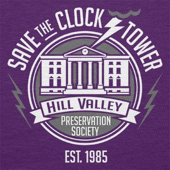 NERDO - Save the Clock Tower - Damen T-Shirt Violett