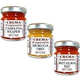 3 Chili Paste Carolina Reaper, Moruga Gold, Bhut Jolokia - Cremes EXTREM SCHARF 3 Stücke Kit