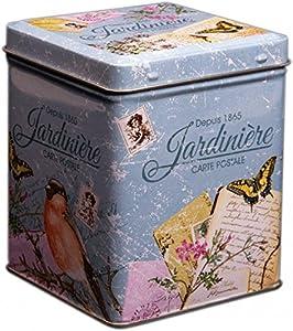 Boîte à théStyle vintage rétro avec inscription Jardinière9,5cm