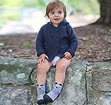 Attipas Cutie (21.5, grau) Kinder Barfußschuhe, ergonomische Baby Lauflernschuhe, atmungsaktive Kinder Hauschuhe ABS Socken Babyschuhe - 6