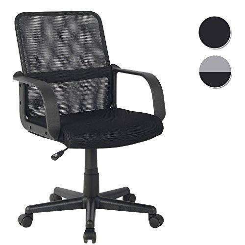 SixBros. Bürostuhl Drehstuhl Schreibtischstuhl Schwarz - HLC-1278-2/2103
