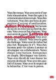 Lettres de non-motivation...