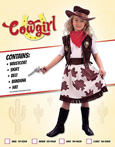 Imagen de disfraz de niña de vaquera. 3  5 años alternativa