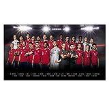 München FC Bayern Poster, Team Plakat, Mannschaftsposter 2018/19 FCB - Plus Lesezeichen I Love
