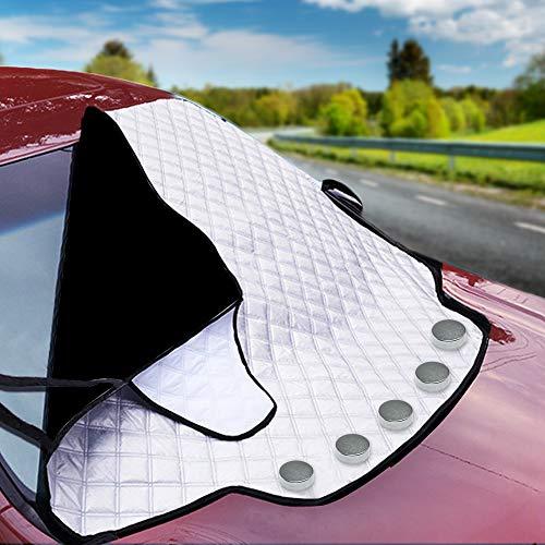 Bramble Magnetische Auto Windschutzscheibe Sonnenschutz, Frontscheiben Abdeckung für alle Jahreszeiten - Sommer Sonne Winter Schnee Frost Eisschutz - Passend für alle Standardfahrzeuge