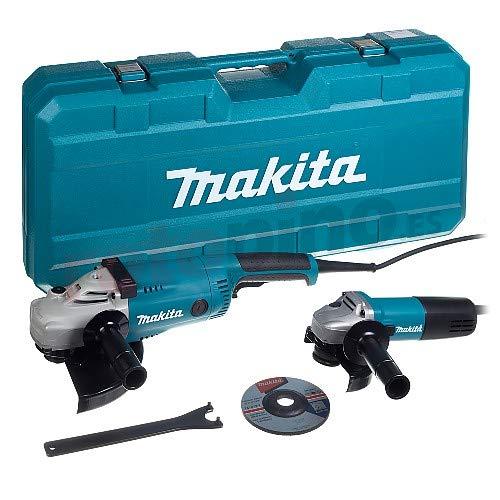 Makita MEU041 MEU041 Winkelschleiferset, 2200 W, 230 V, Blau, Grau, Metallisch