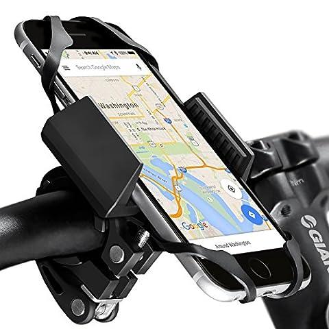 widras Fahrrad- und Motorrad Handy Halterung 2nd Generation | Fahrrad Halterung für iPhone 7| 6S 5S plus | Samsung Galaxy S5S6S7S8Note oder jedem Smartphone & gps| Mountain & Road Fahrrad Lenker (Spielen Harness Adapter)