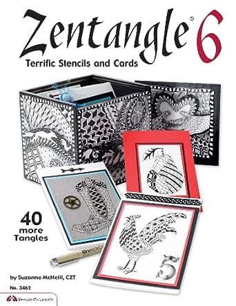 Zentangle 6: Terrific Stencils and Cards eBook: Suzanne McNeill