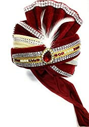 wedding safa/turban/pagdi for men maroon color dulha marriage pagdi