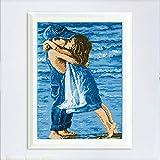 Anself Kit DIY hecho a mano de la costura de punto de cruz Set bordado preciso Mar Impreso Niñez Diseño Cruz-costura de 49,5 * 36cm la decoración del hogar
