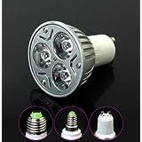 3 piezas RGB 1W LED colorido mando focos regulable 150Lm AC 85-265-30 grados , rgb , mr16