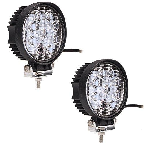 FUSKANG 2PCS luci lavoro di 27W LED, impermeabile esterna IP67 fascio di punto SUV Off Road barca guidare il faro, 12V 24V