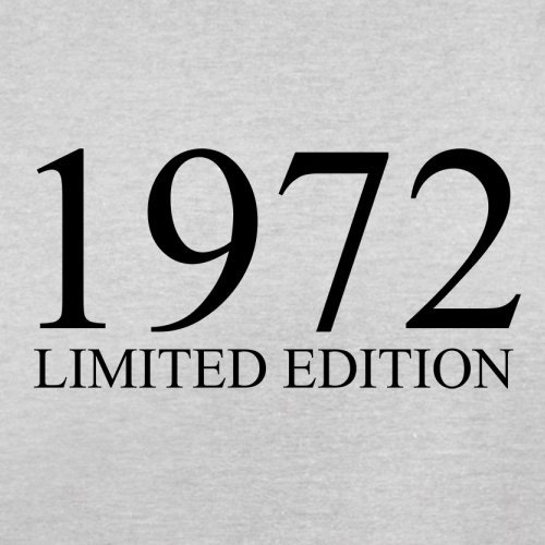 1972 Limierte Auflage / Limited Edition - 45. Geburtstag - Herren T-Shirt - 13 Farben Hellgrau