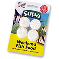 Supa Paquete de 4 bloques de comida de fin de semana para peces