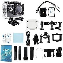 Action camera ,Stoga 1080P HD mette in mostra la macchina fotografica 16MP WiFi fotografica impermeabile 30M videocamera subacquea da 2,0 pollici impermeabile telecomando senza fili per bicicletta del motociclo di immersioni subacquee piscina