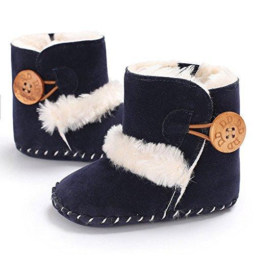 e Süße Junge Mädchen Baby weiche Sohle Schnee Stiefel weiche Krippe Schuhe Kleinkind Stiefel Navy,0-6 Monate ()