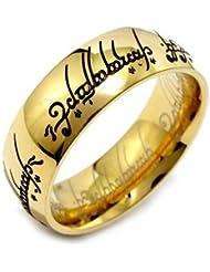 El Señor de los Anillos - El anillo único - acero inoxidable dorado