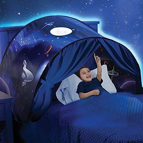 Tente de Rêve Tente de Lit Enfants Tente Playhouse de Tente Apparaitre Intérieure Enfant Jouer Tentes Cadeaux de Noël pour Enfants (Aventure Spatiale)