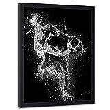 carowall CAROWALL.COM Poster Cadre Noir XXL Unique Image contemporaine Design Judo Blanc 70x100 cm
