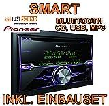 Smart ForTwo 2010-2014 - Pioneer FH-X720BT - 2DIN Bluetooth USB - Autoradio Einbauset
