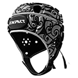 Impact France - Casque Protection Rugby Impact MAORIBLACK - Taille : S