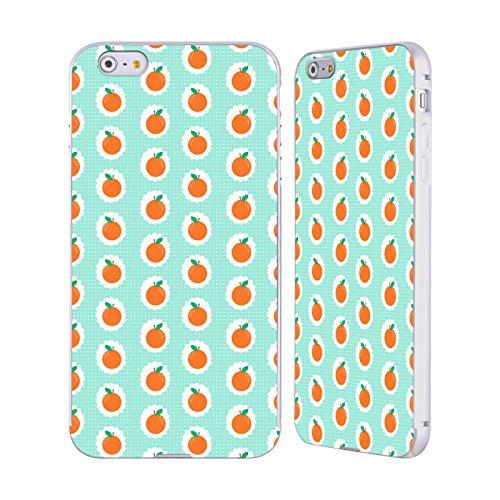 Ufficiale Charlotte Winter Isola Pattern Tropicali Argento Cover Contorno con Bumper in Alluminio per Apple iPhone 5 / 5s / SE Picnic Arancia