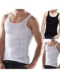 Proye White Lycra Tummy Tucker Slimming Vest Sauna Body Shaper Tummy Waist Magic Compression Muscle Shirt (Pack...