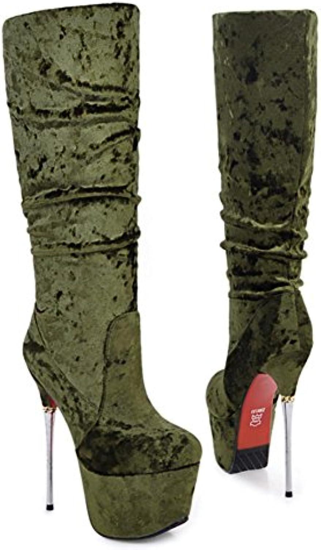 Best 4U® Femme Chaussures Velours Automne Hiver Nouveauté Bottes Bottes Bottes à la Mode Bottes Talon Aiguille Bout rond Bottes...B076KSFX2CParent c3a016