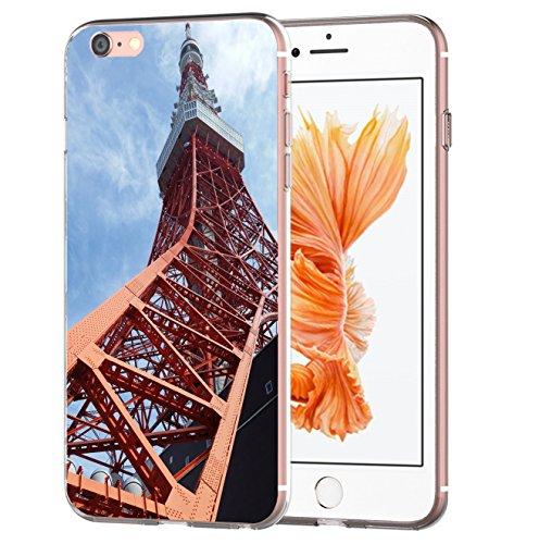 blitzversand Handyhülle Tokio Kaiserreich kompatibel für Huawei P10 Lite Tokio Fernsehturm Schutz Hülle Case Bumper transparent M15