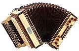 Loib acordeon IVD arce B-Es-As-Des con H-bajo y X-bajo, cubierta de madera