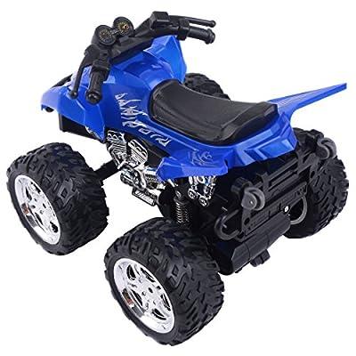 Goplus 4D ATV 2.4G RC Motorrad Racing Bike Kinder Spielzeug Fernbedienung Motorcycle Rennmaschine Geschenk (Blau) von COSTWAY