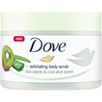 Dove Body Polish Exfoliating Scrub, Kiwi Seeds and Aloe Vera, Removes Dull & Dry Skin and Lightens Blemishes, Sulphate…