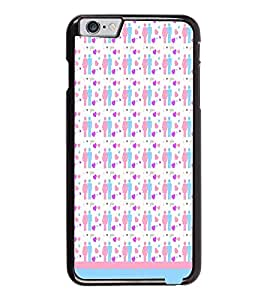 PrintDhaba Love Couple Pattern D-1597 Back Case Cover for APPLE IPHONE 6 PLUS (Multi-Coloured)