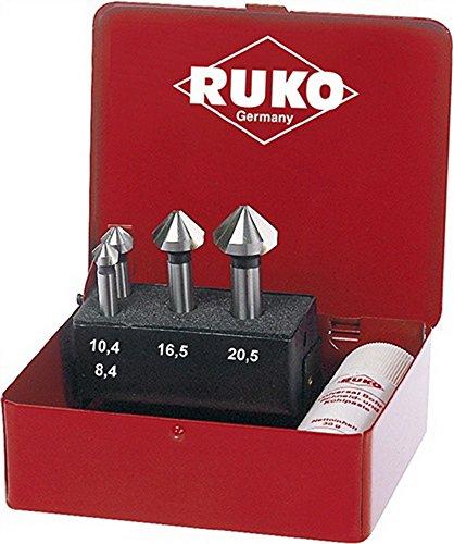 RUKO 102151 - JUEGO DE 6 AVELLANADORES CONICOS  DIN 335 FORMA C (6 3 - 20 5 MM)