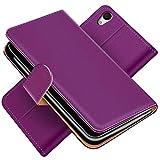 Conie Handytasche für Sony Xperia M4 Aqua Cover Schutzhülle im Bookstyle aufklappbare Hülle aus PU Leder Farbe: Lila