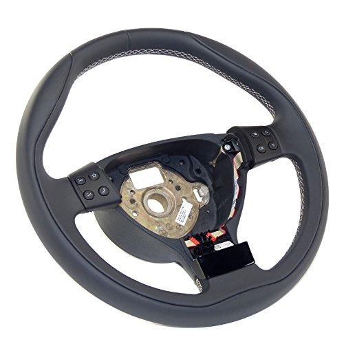 Sportlenkrad Individual Lenkrad Sport Leder Lederlenkrad steering wheel MFA, Leder schwarz, Naht...