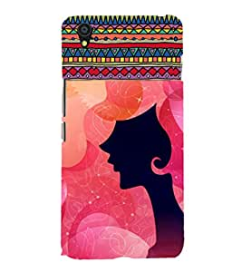 ifasho Designer Phone Back Case Cover OnePlus X :: One Plus X ( Indian Lady Half Face )