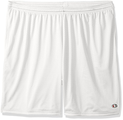 Champion–Pantaloncini neri con tasche. Bianco
