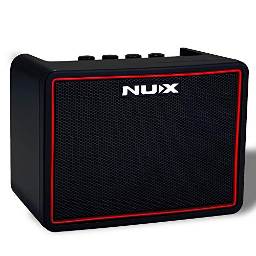 Asmuse 3W Mini Gitarrenverstärker Guitar Amplifier Bassverstärker Kopfhörer Übung mit Gain Delay Reverb Distortion Effekt und über Bluetooth APPs auf Smartphone steuern