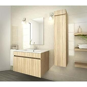 Luna ensemble de salle de bain 80cm - décor oak sonoma