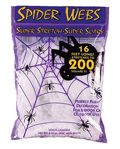 Horror-Shop Künstliche Spinnweben 60gr. als Halloween Dekoration